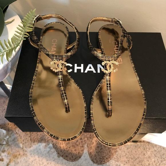 b8539378e95 CHANEL Shoes - CHANEL Fantasy Thongs